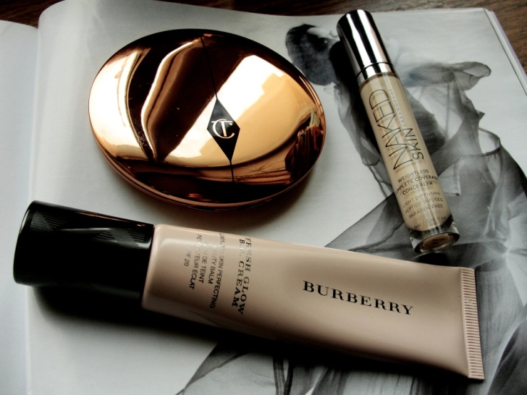 Burberry BB Cream, Urban Decay Naked Skin, Charlotte Tilbury Airbrush Flawless Finish
