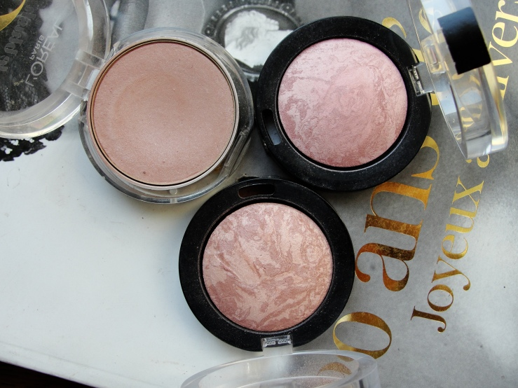 Hourglass Mood Exposure, Chanel Accent, Max Factor Nude Mauve, Lavish Mauve, L'Oreal Nude Pink