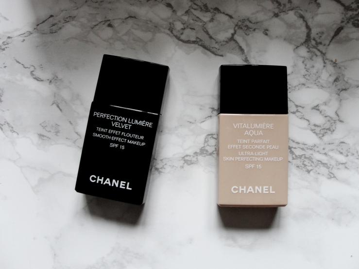 Chanel Perfection Lumière Velvet, Chanel Vitalumière Aqua