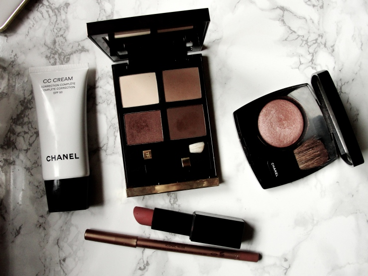 Tom Ford Cocoa Mirage, Chanel Accent, Nars Barbara, Charlotte Tilbury Iconic Nude, Chanel CC Cream